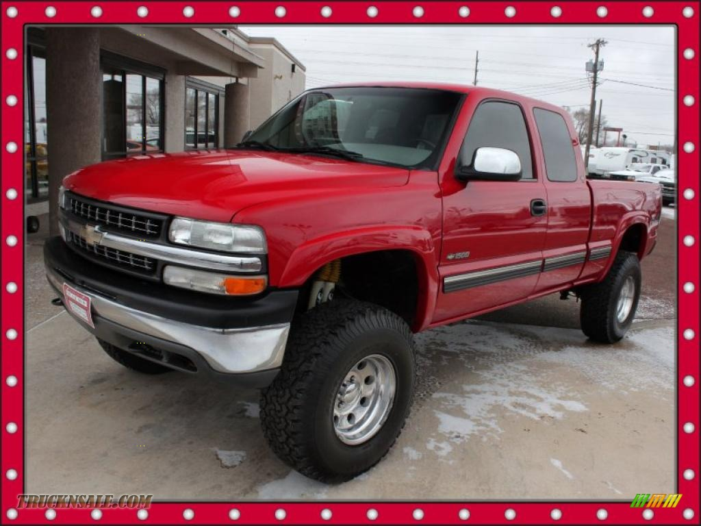 2000 chevrolet silverado 1500 ls extended cab 4x4 in victory red 219338 truck n 39 sale. Black Bedroom Furniture Sets. Home Design Ideas