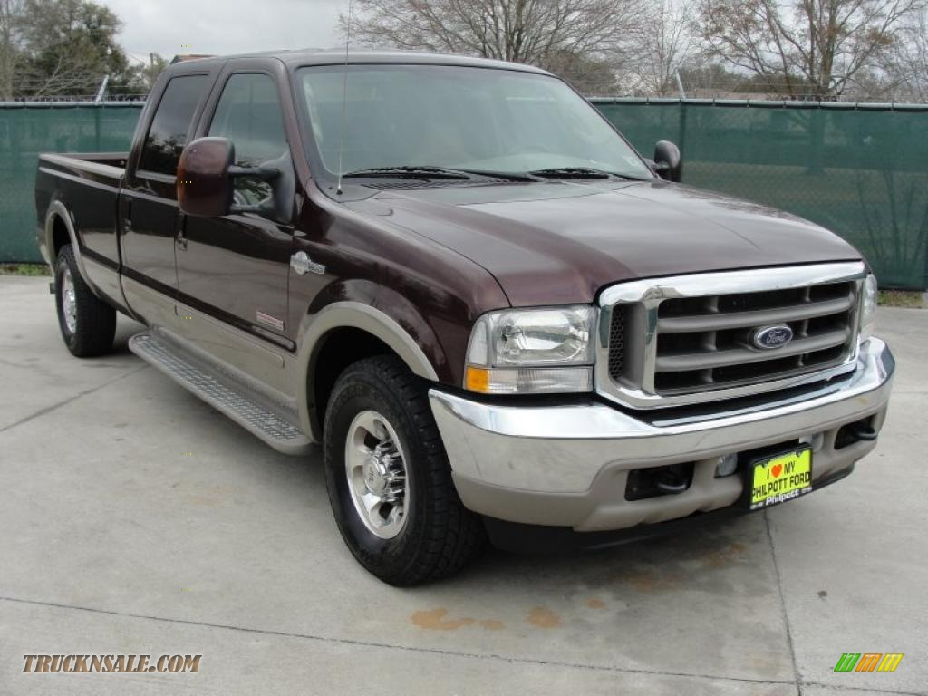 2004 Ford F350 Super Duty King Ranch Crew Cab In Chestnut Brown Metallic Castano Leather