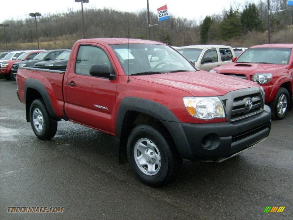 2010 toyota tacoma regular cab 4x4 in barcelona red metallic 726771 truck n 39 sale. Black Bedroom Furniture Sets. Home Design Ideas