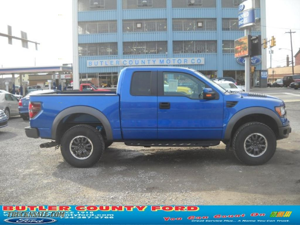 2010 ford f150 svt raptor supercab 4x4 in blue flame metallic c47413 truck n 39 sale. Black Bedroom Furniture Sets. Home Design Ideas