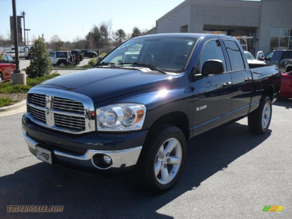 2008 dodge ram 1500 big horn edition quad cab 4x4 in patriot blue pearl 160513 truck n 39 sale. Black Bedroom Furniture Sets. Home Design Ideas