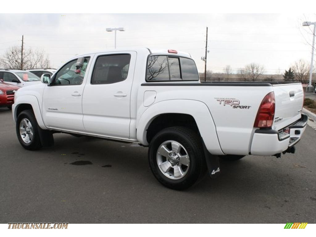 2008 toyota tacoma v6 trd sport double cab 4x4 in super white for sale photo 4 570846 truck. Black Bedroom Furniture Sets. Home Design Ideas