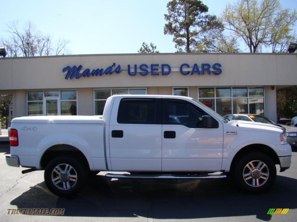 2005 ford f150 lariat supercrew 4x4 in oxford white. Black Bedroom Furniture Sets. Home Design Ideas