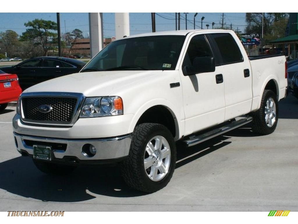 Land Rover Houston North >> 2007 Ford F150 Lariat SuperCrew 4x4 in White Sand Tri-Coat photo #7 - A99198 | Truck N' Sale
