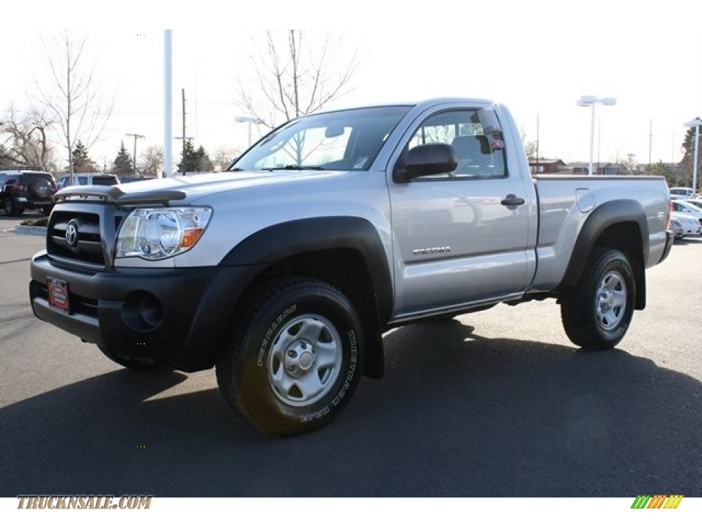 2005 toyota tacoma regular cab 4x4 in silver streak mica photo 5 016018 truck n 39 sale. Black Bedroom Furniture Sets. Home Design Ideas