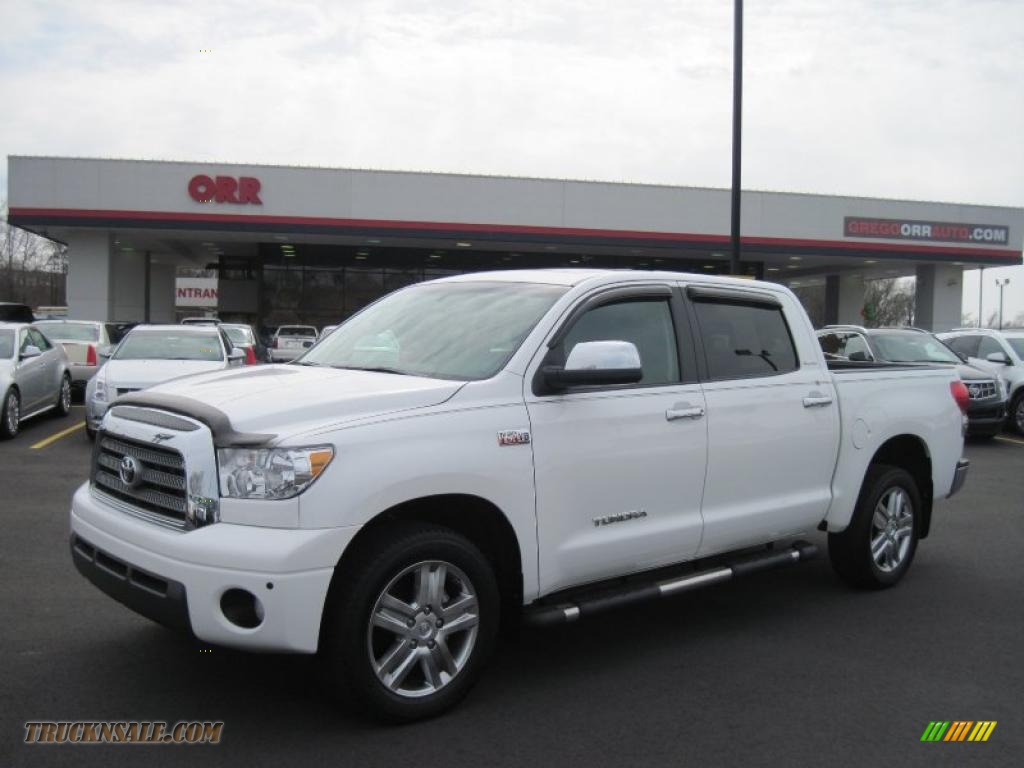 2008 toyota tundra limited crewmax 4x4 in super white 507883 truck n 39 sale. Black Bedroom Furniture Sets. Home Design Ideas