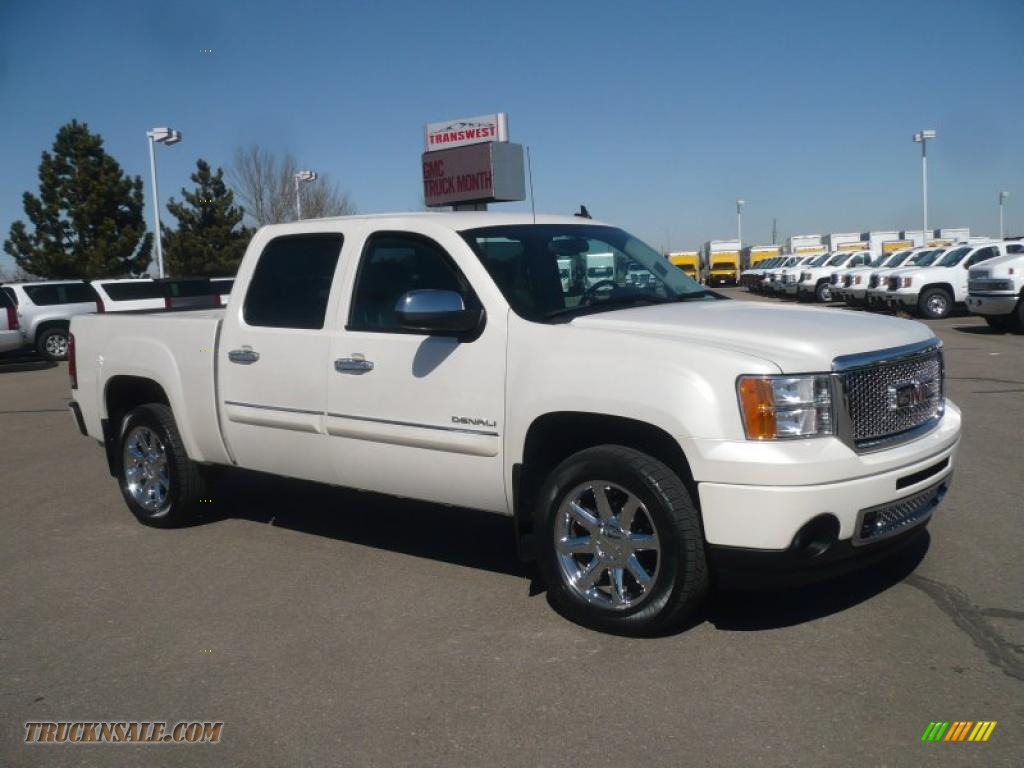2010 gmc sierra 1500 denali crew cab awd in white diamond. Black Bedroom Furniture Sets. Home Design Ideas