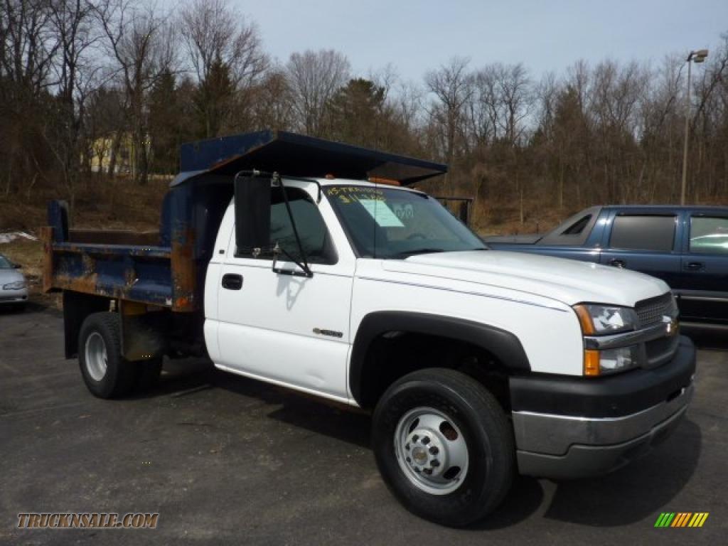 2004 Silverado 3500HD Regular Cab Chassis Dump Truck - Summit White ...