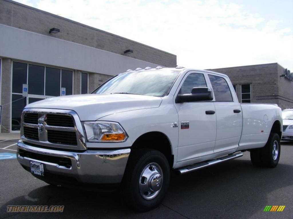 2011 dodge ram 3500 hd st crew cab 4x4 dually in bright white 567158 truck n 39 sale. Black Bedroom Furniture Sets. Home Design Ideas