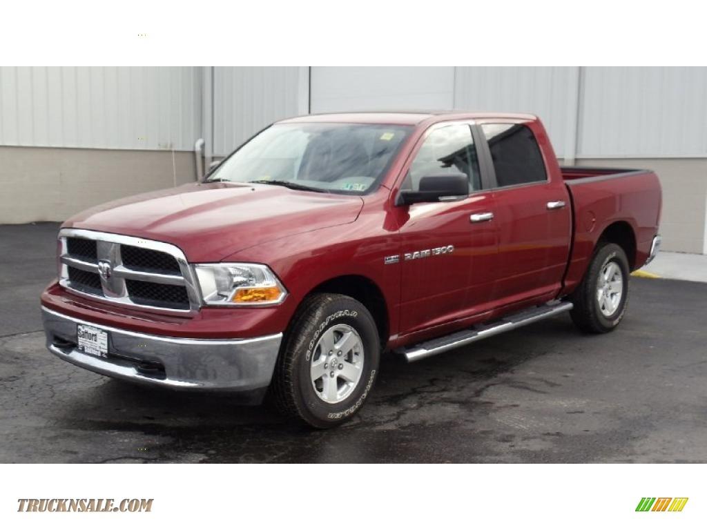 2011 dodge ram 1500 slt crew cab 4x4 in deep cherry red crystal pearl 556404 truck n 39 sale. Black Bedroom Furniture Sets. Home Design Ideas