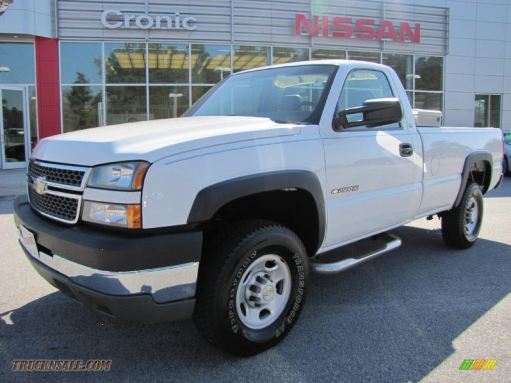 Summit white dark charcoal chevrolet silverado 2500hd regular cab