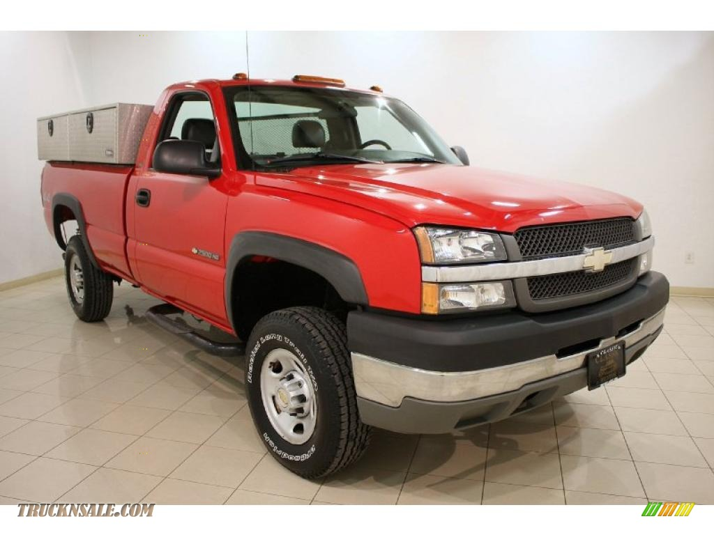 2004 chevrolet silverado 2500hd ls regular cab 4x4 in victory red 255104 truck n 39 sale. Black Bedroom Furniture Sets. Home Design Ideas