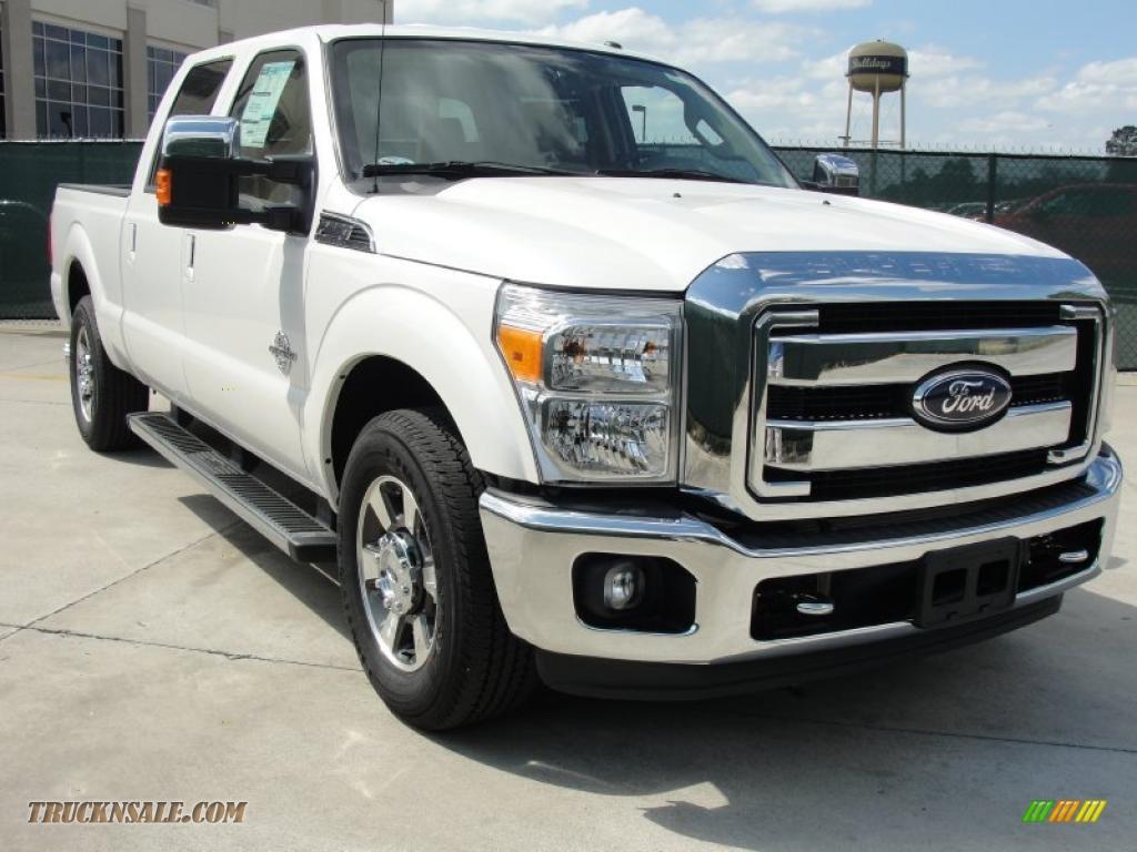 White platinum metallic tri coat adobe beige ford f250 super duty lariat crew cab