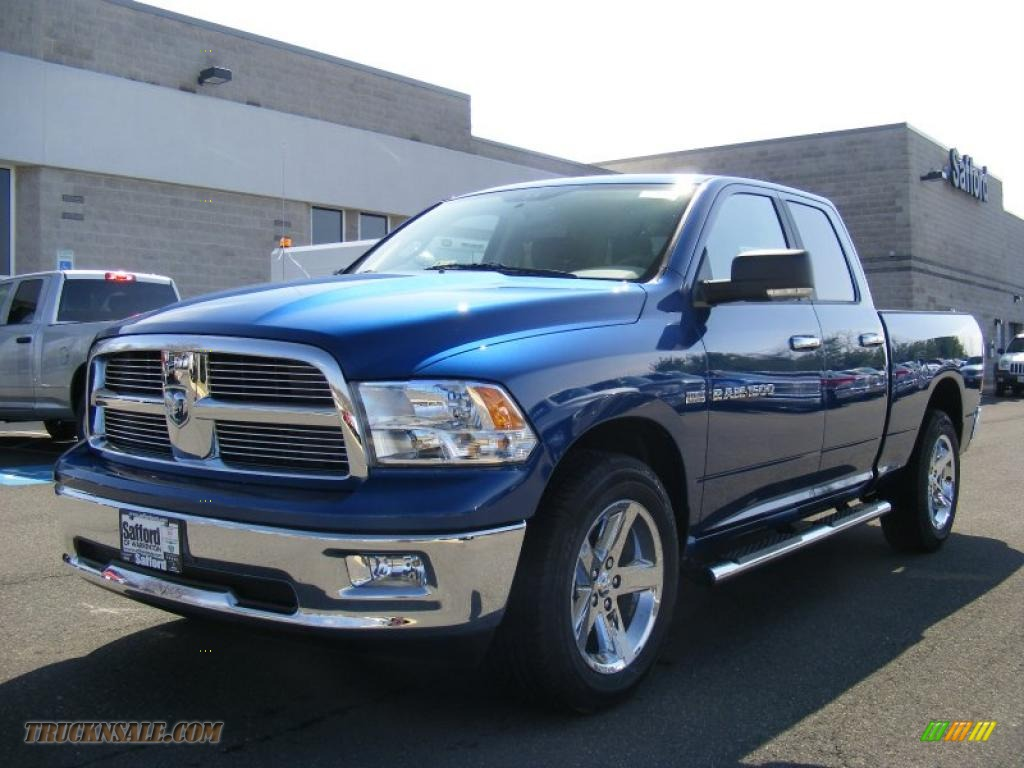 2011 dodge ram 1500 big horn quad cab 4x4 in deep water blue pearl 622716 truck n 39 sale. Black Bedroom Furniture Sets. Home Design Ideas