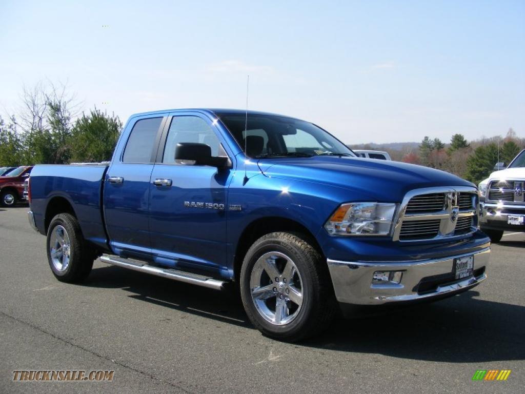 Blue 2008 Dodge Ram 1500 >> 2011 Dodge Ram 1500 Big Horn Quad Cab 4x4 in Deep Water Blue Pearl photo #2 - 622716 | Truck N' Sale