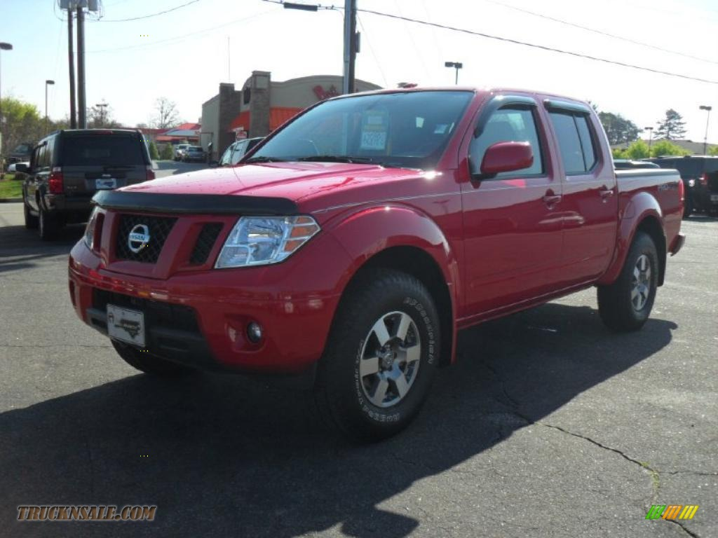 2010 nissan frontier pro 4x crew cab 4x4 in red alert 449333 truck n 39 sale. Black Bedroom Furniture Sets. Home Design Ideas