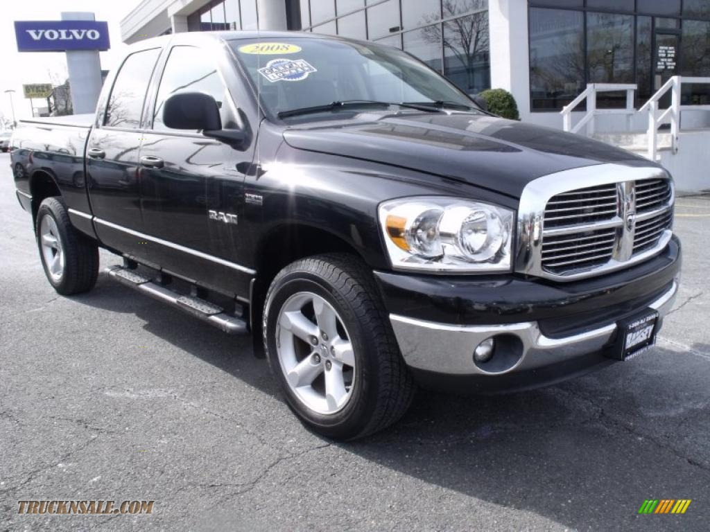 2008 dodge ram 1500 big horn edition quad cab 4x4 in brilliant black crystal pearl 106203. Black Bedroom Furniture Sets. Home Design Ideas
