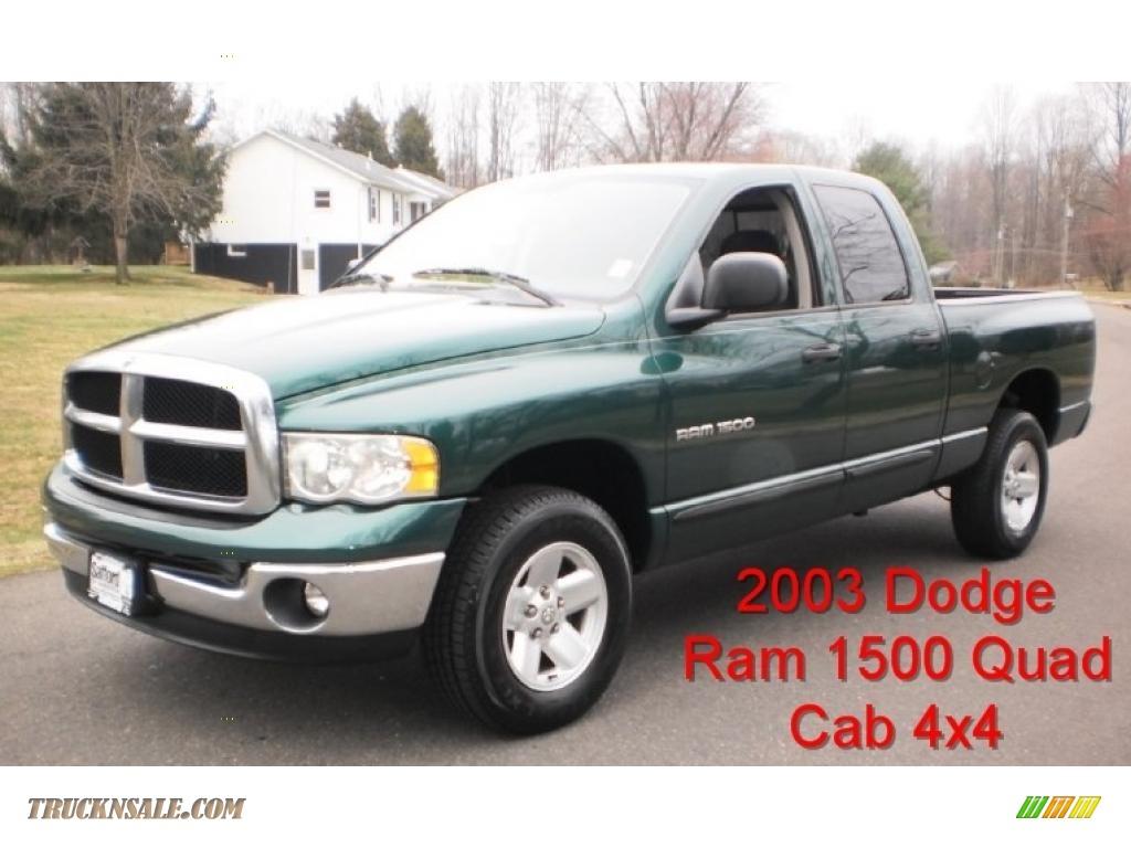 2003 dodge ram 1500 slt quad cab 4x4 in timberline green pearl 206514 truck n 39 sale. Black Bedroom Furniture Sets. Home Design Ideas