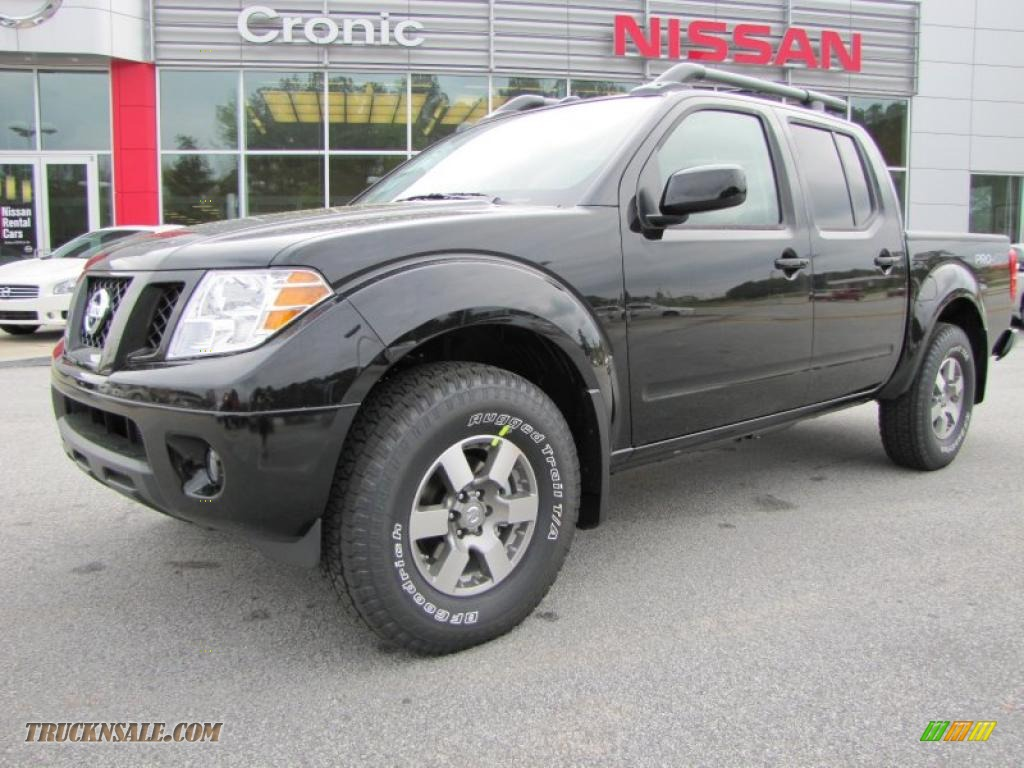 2011 nissan frontier pro 4x crew cab 4x4 in super black 430412 truck n 39 sale. Black Bedroom Furniture Sets. Home Design Ideas