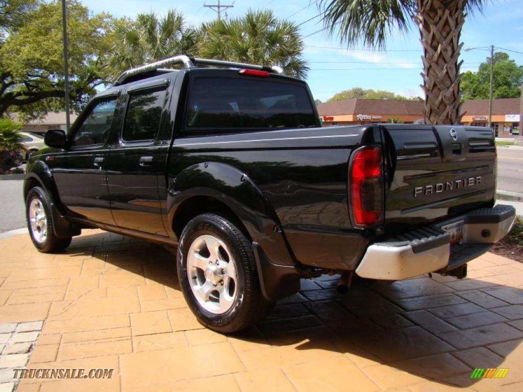 2001 nissan frontier sc v6 crew cab in super black photo. Black Bedroom Furniture Sets. Home Design Ideas