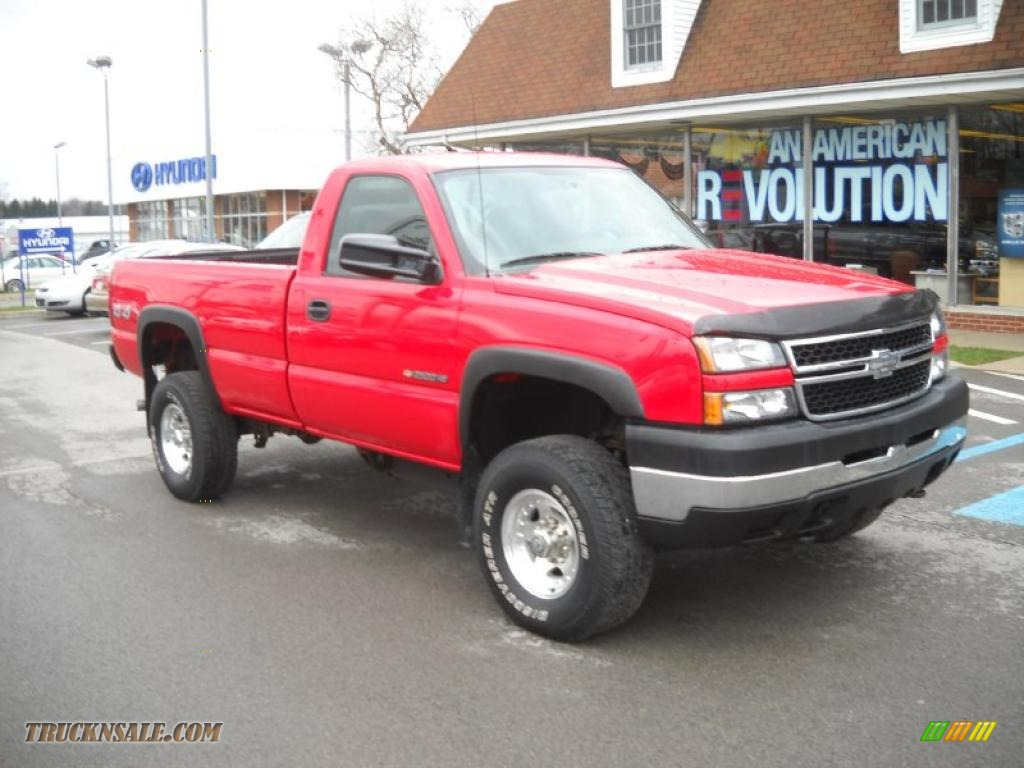 Victory Red / Dark Charcoal Chevrolet Silverado 2500HD Classic Work Truck Regular Cab 4x4