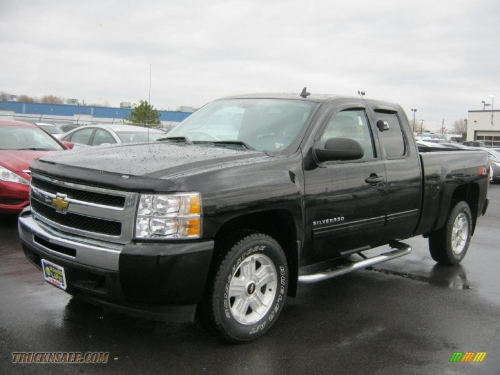 2010 chevrolet silverado 1500 lt extended cab 4x4 in black 227336 truck n 39 sale. Black Bedroom Furniture Sets. Home Design Ideas