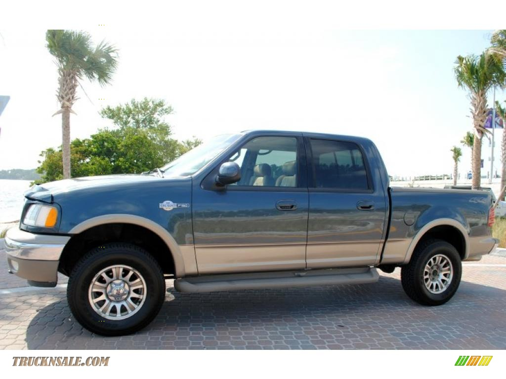 2002 ford f150 king ranch supercrew 4x4 in charcoal blue metallic
