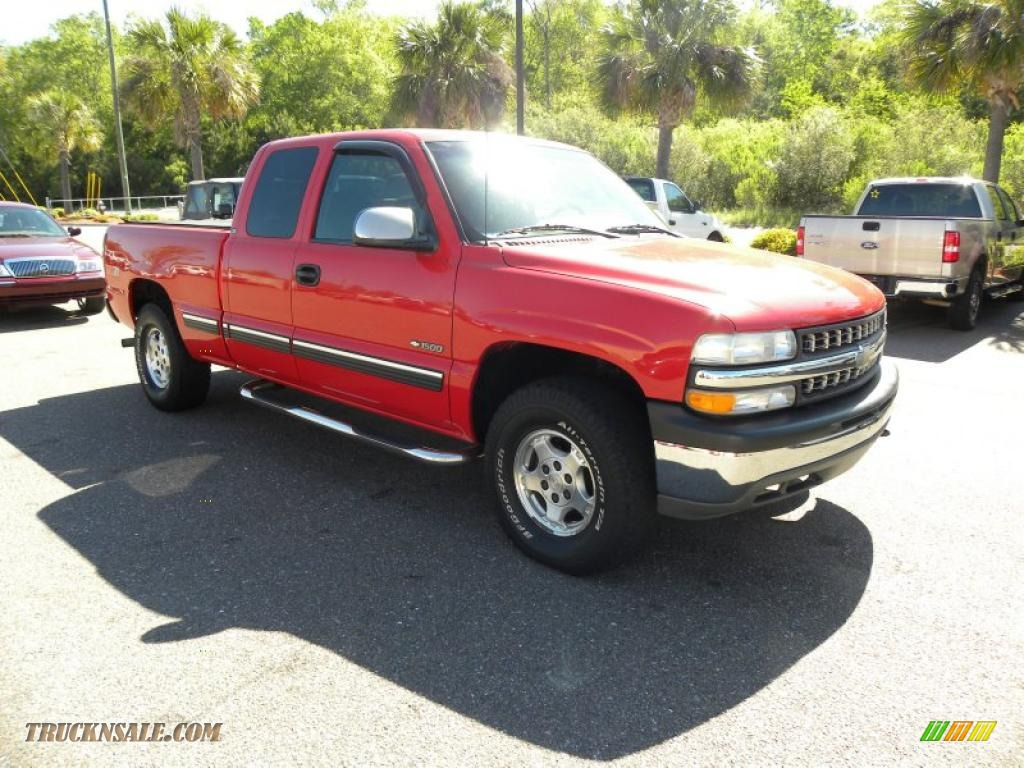 1999 chevrolet silverado 1500 z71 extended cab 4x4 in victory red 228959 truck n 39 sale. Black Bedroom Furniture Sets. Home Design Ideas