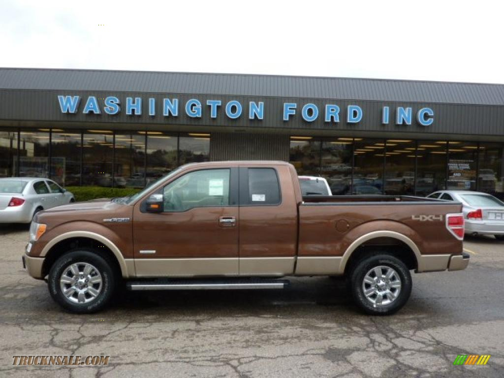 Golden bronze metallic pale adobe ford f150 lariat supercab 4x4