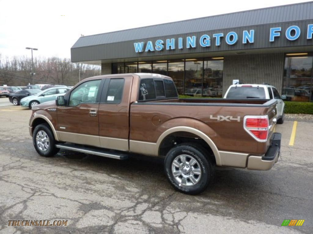 2011 f150 lariat supercab 4x4 golden bronze metallic pale adobe photo 2
