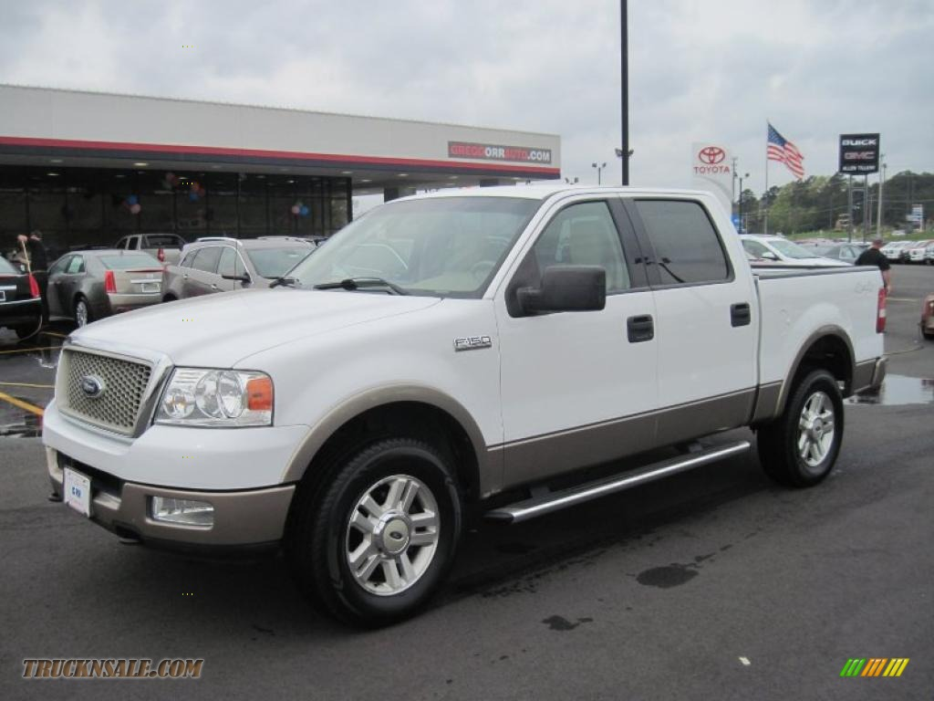 2004 Ford F150 5.4 Engine For Sale >> 2004 Ford F150 Lariat SuperCrew 4x4 in Oxford White ...