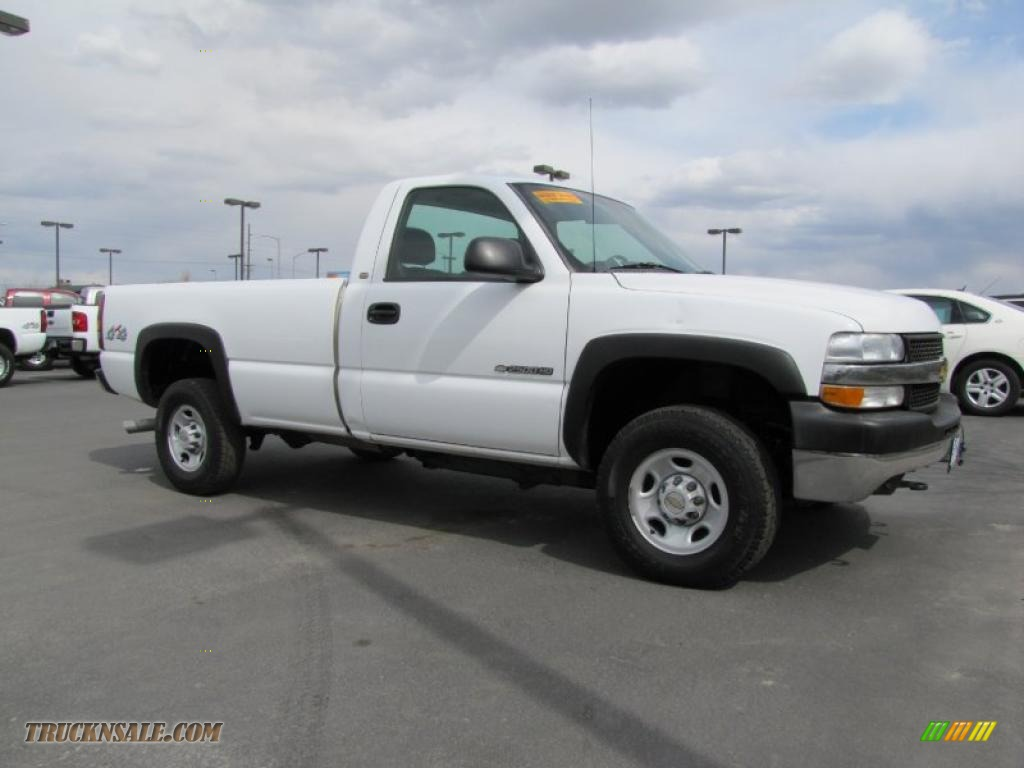 2015 Chevrolet Silverado 1500 Double Cab >> 2002 Chevrolet Silverado 2500 Regular Cab 4x4 in Summit White photo #4 - 241897 | Truck N' Sale