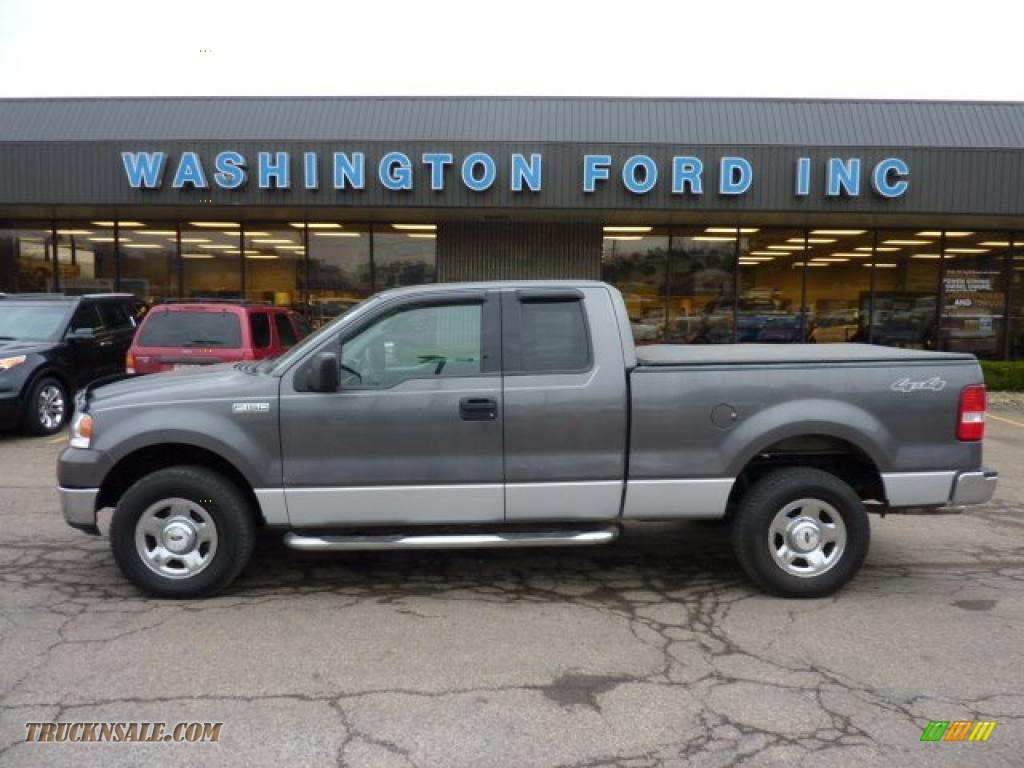 2004 Ford F150 Xlt Supercab 4x4 In Dark Shadow Grey Metallic F 150 Xl Black Medium Flint Photo