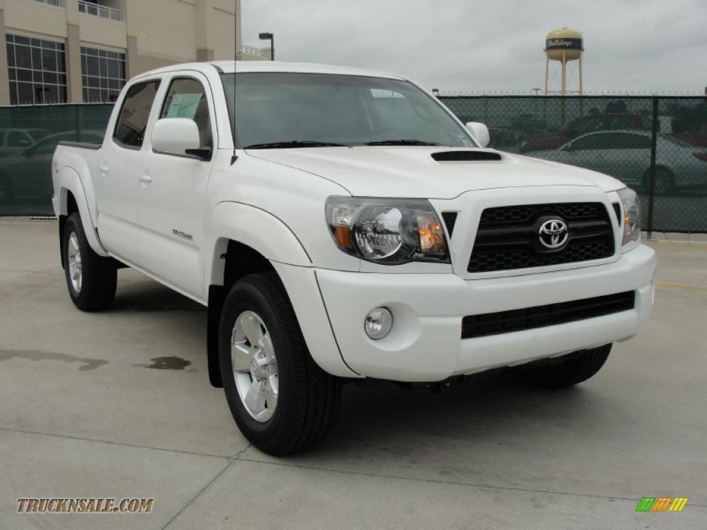2011 toyota tacoma v6 trd sport double cab 4x4 in super white 017639 truck n 39 sale. Black Bedroom Furniture Sets. Home Design Ideas