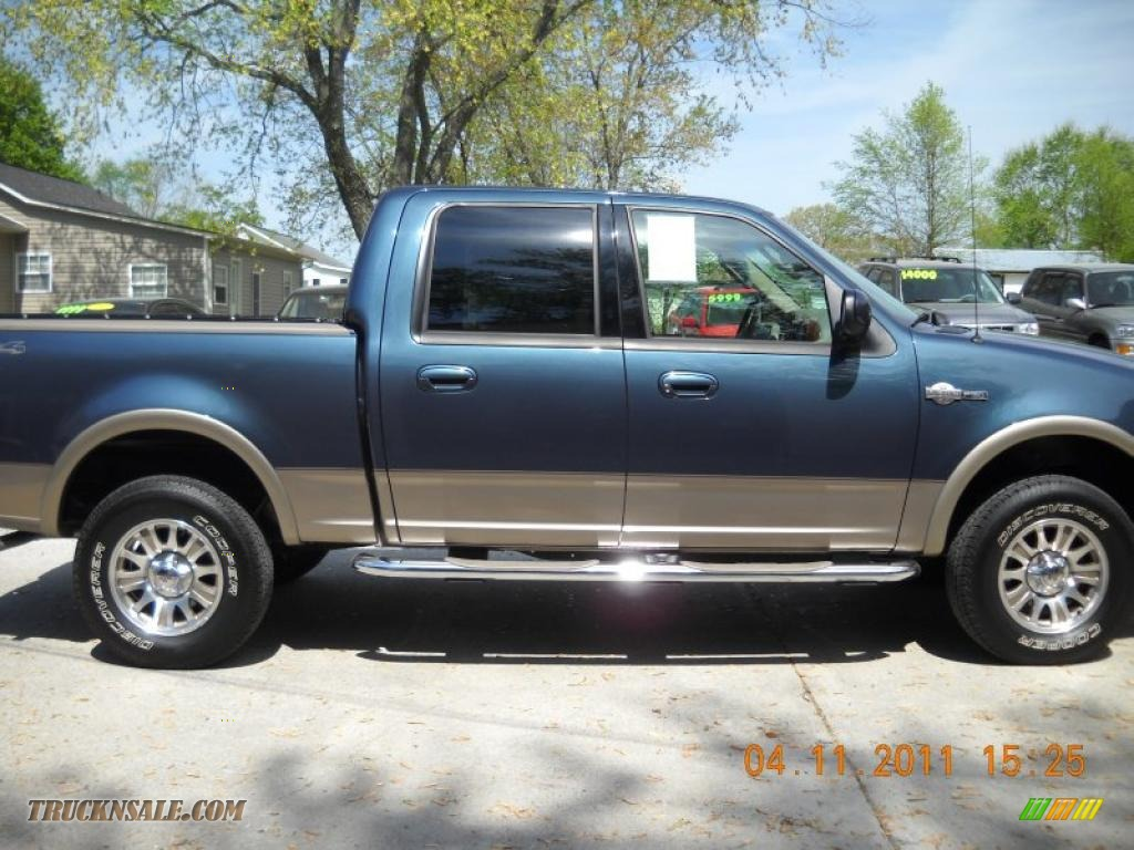 2003 Ford F150 King Ranch Supercrew 4x4 In Charcoal Blue