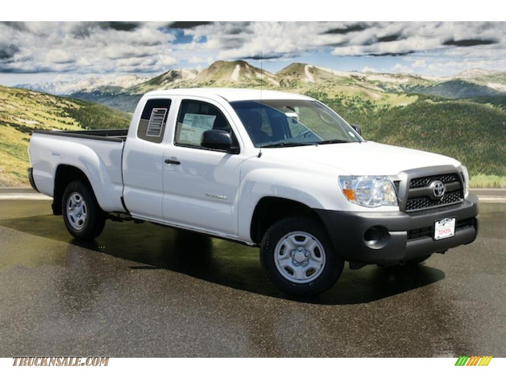 2011 toyota tacoma access cab in super white 008420 truck n 39 sale. Black Bedroom Furniture Sets. Home Design Ideas