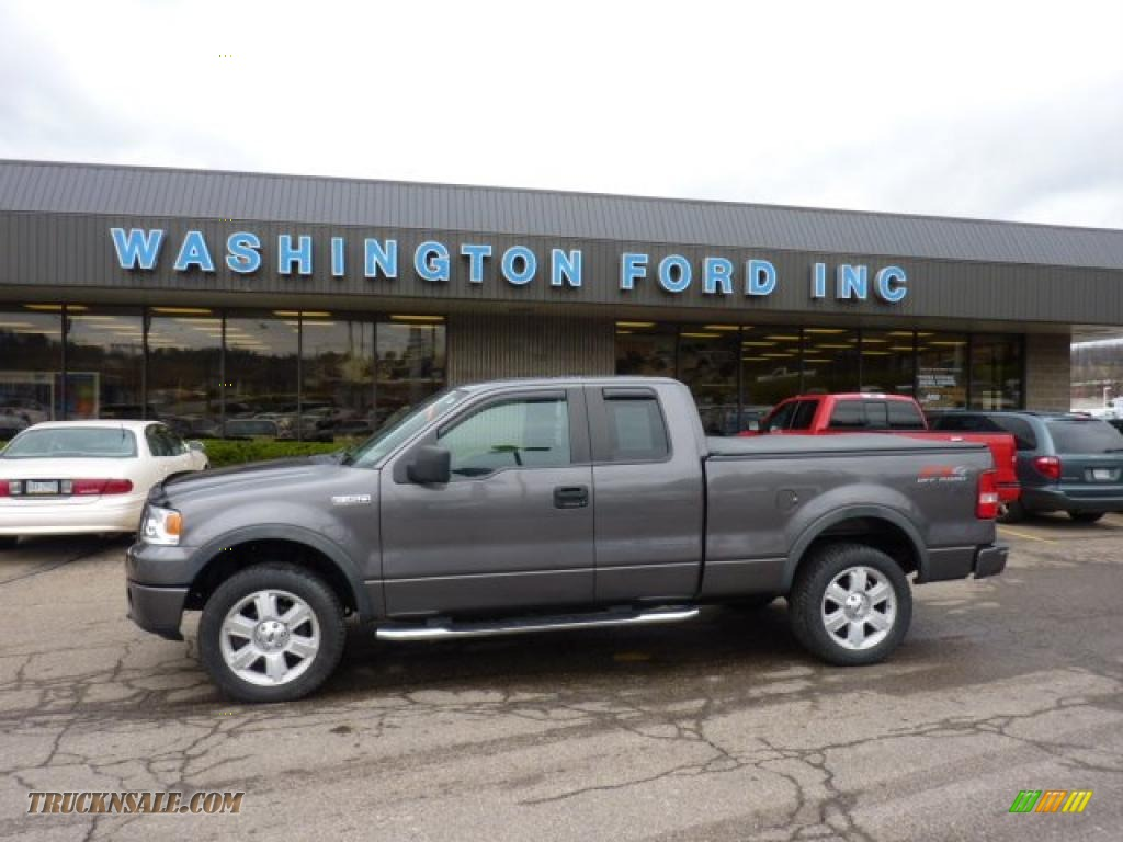 Dark shadow grey metallic black ford f150 fx4 supercab 4x4