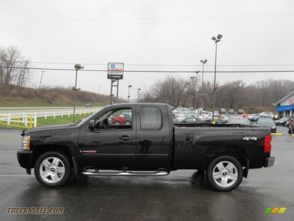 2007 chevrolet silverado 1500 ltz extended cab 4x4 in black photo 6 532924 truck n 39 sale. Black Bedroom Furniture Sets. Home Design Ideas