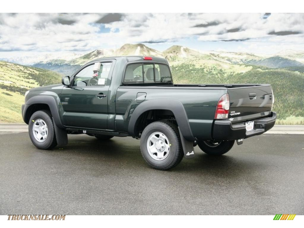 2011 toyota tacoma regular cab 4x4 in timberland green mica photo 3 005533 truck n 39 sale. Black Bedroom Furniture Sets. Home Design Ideas