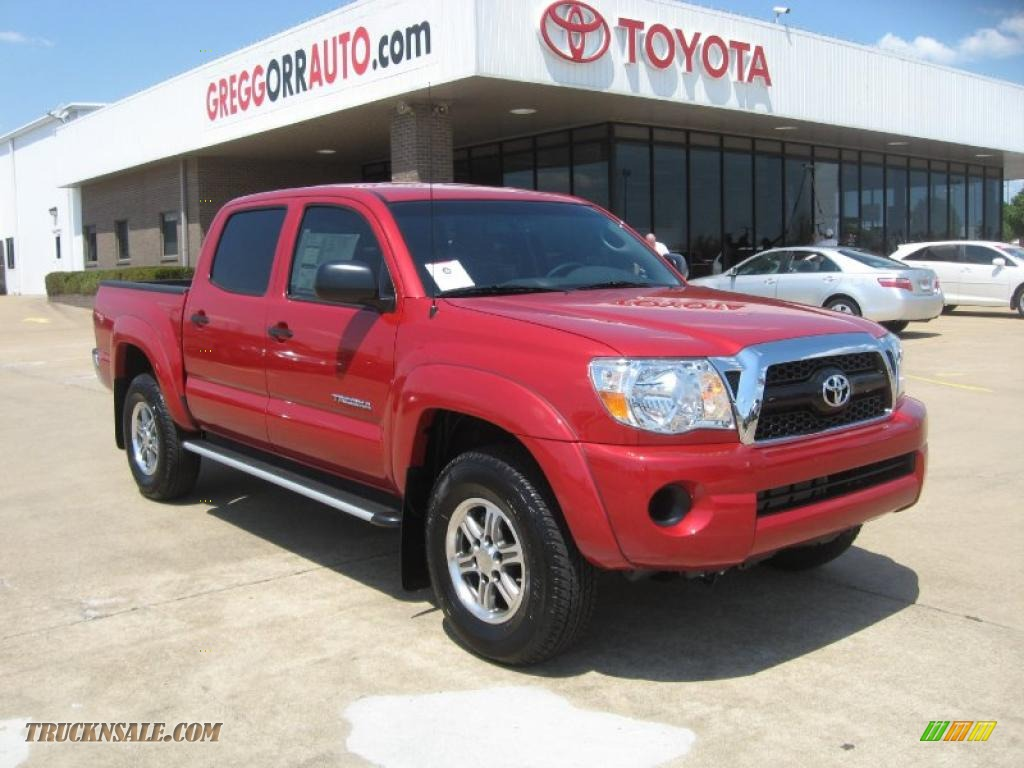 2011 toyota tacoma sr5 prerunner double cab in barcelona red metallic 003999 truck n 39 sale - Cab in barcelona ...