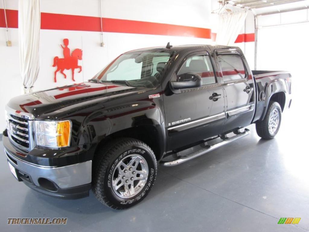 2009 gmc sierra 1500 slt crew cab 4x4 in onyx black 182323 truck n 39 sale. Black Bedroom Furniture Sets. Home Design Ideas