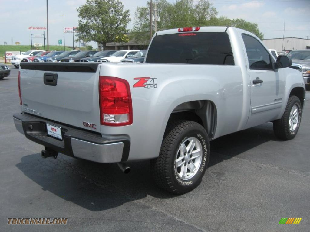 2010 gmc sierra 1500 sle regular cab 4x4 in pure silver metallic photo 5 209357 truck n 39 sale. Black Bedroom Furniture Sets. Home Design Ideas