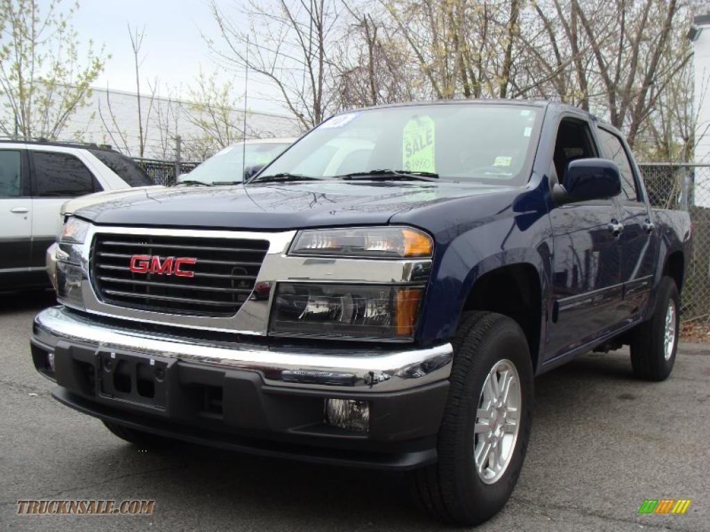 2010 gmc canyon sle crew cab 4x4 in navy blue 139612 truck n 39 sale. Black Bedroom Furniture Sets. Home Design Ideas