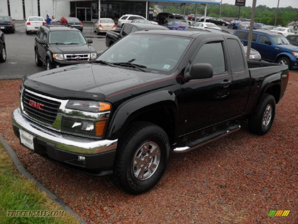 2007 gmc canyon sle extended cab 4x4 in onyx black photo. Black Bedroom Furniture Sets. Home Design Ideas