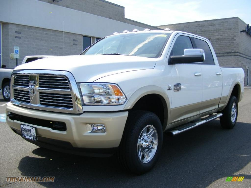 2011 dodge ram 3500 hd laramie longhorn crew cab 4x4 in bright white 568198 truck n 39 sale. Black Bedroom Furniture Sets. Home Design Ideas