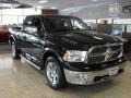 Dodge Ram 1500 Laramie Quad Cab 4x4 Brilliant Black Crystal Pearl photo #5