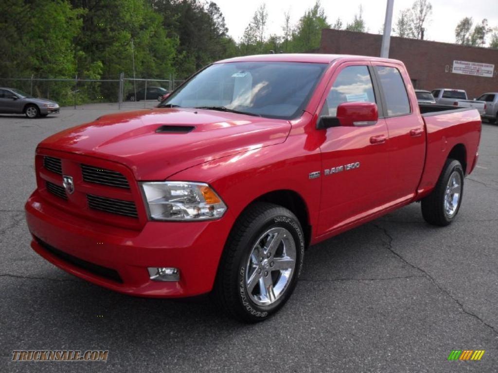 2011 dodge ram 1500 sport quad cab 4x4 in flame red 658637 truck n 39 sale. Black Bedroom Furniture Sets. Home Design Ideas