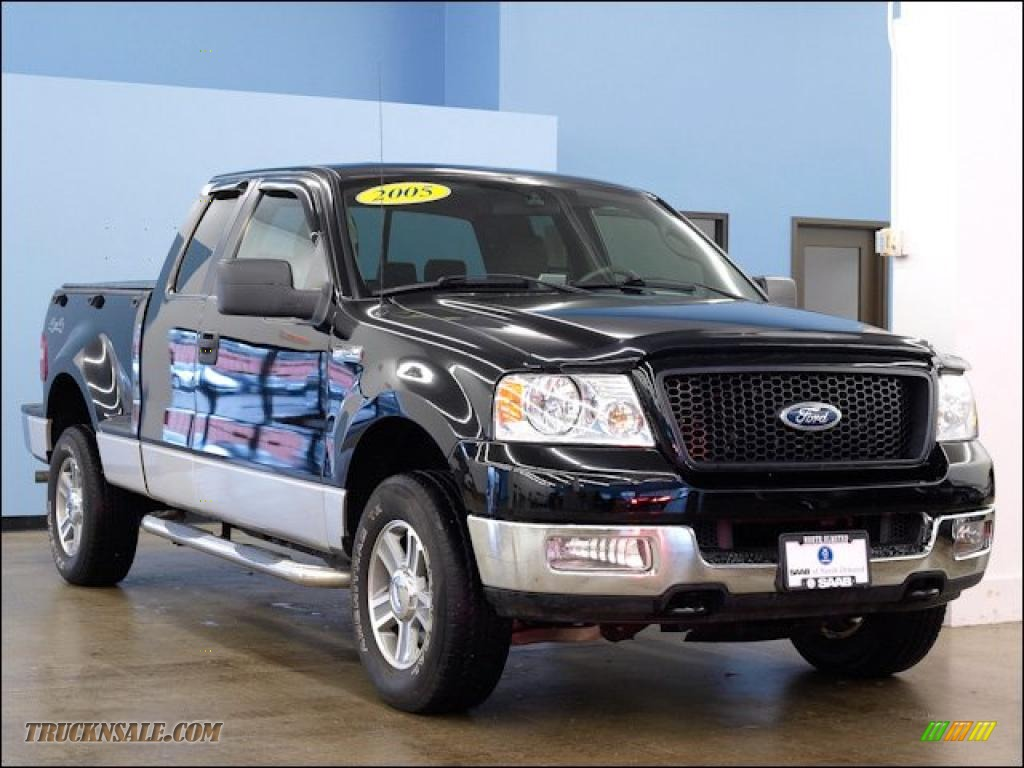 2005 ford f150 xlt supercab 4x4 in black c61432 truck. Black Bedroom Furniture Sets. Home Design Ideas
