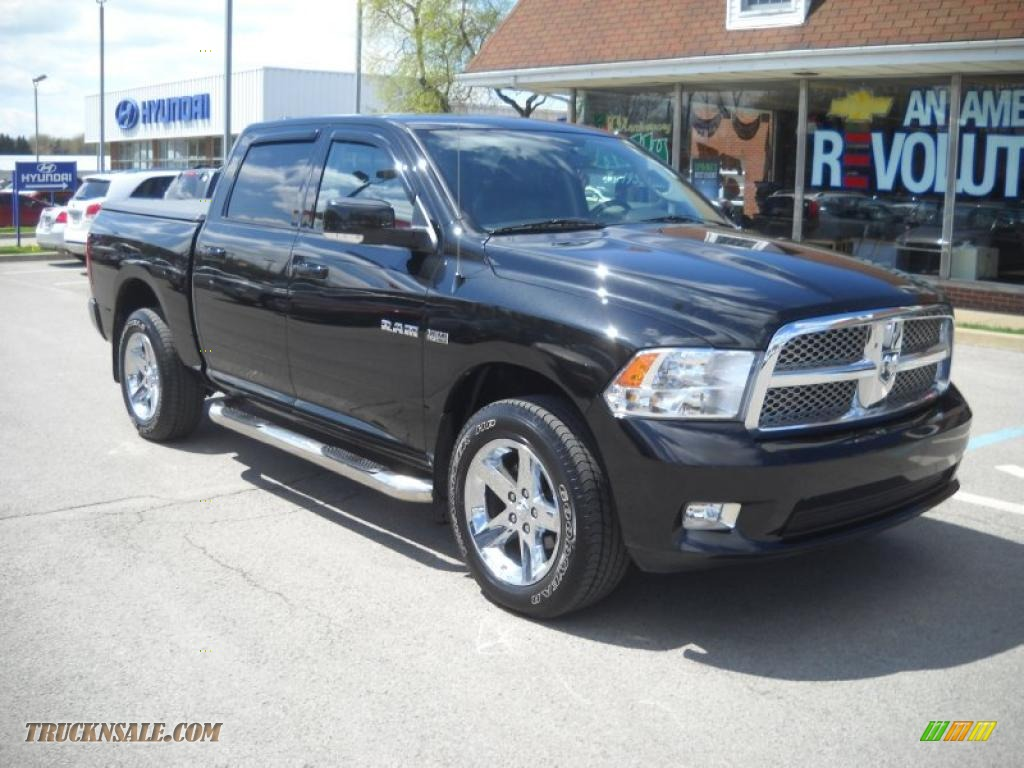 2009 dodge ram 1500 sport crew cab 4x4 in brilliant black crystal. Cars Review. Best American Auto & Cars Review