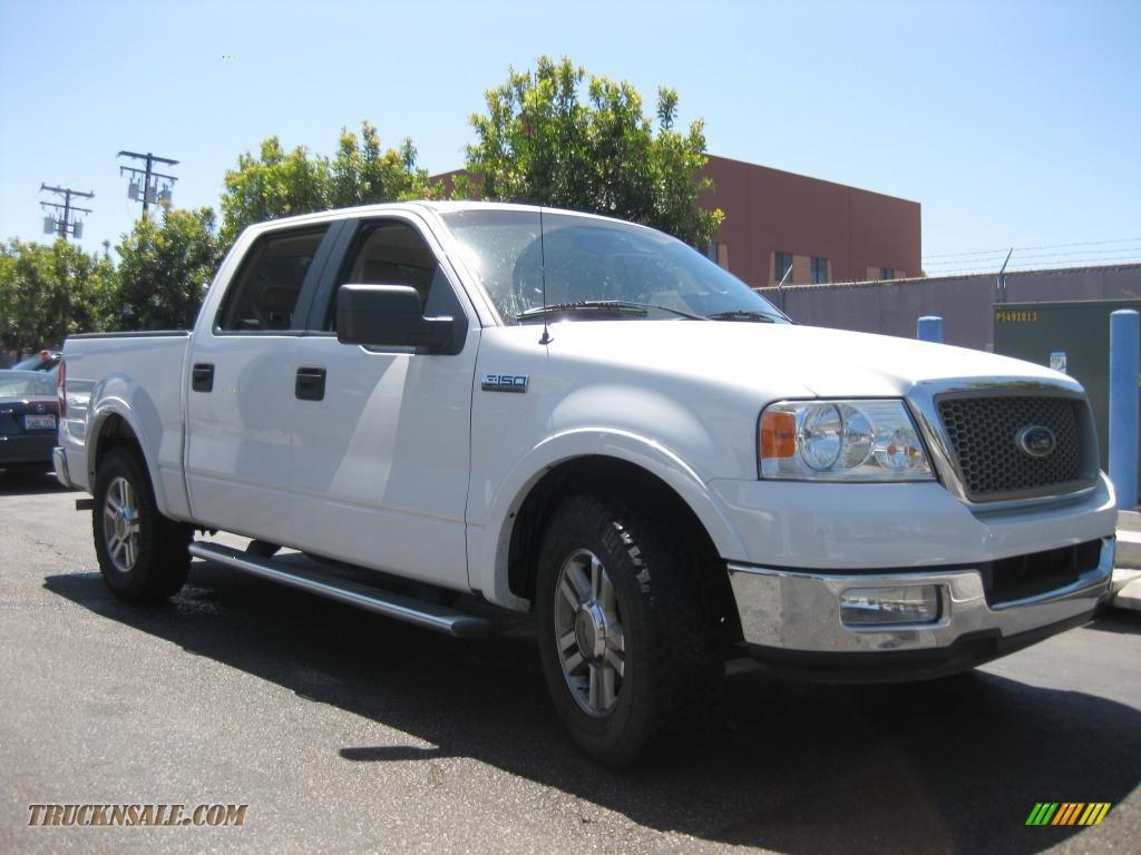 2005 ford f150 lariat supercrew in oxford white b02024 truck n. Black Bedroom Furniture Sets. Home Design Ideas